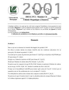 Chimie Organique (2 heures) DEUG SV2
