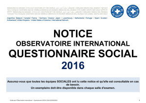 NOTICE QUESTIONNAIRE SOCIAL 2016