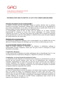 information des patients avant une coronarographie