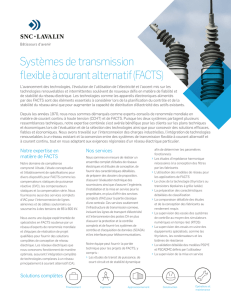 Systèmes de transmission flexible à courant alternatif (FACTS)