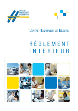 DISPOSITIONS REGLEMENTAIRES - Centre Hospitalier de Béziers
