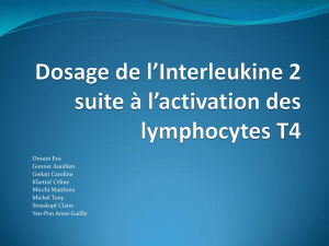 Dosage de l`Interleukine 2 suite à l`activation des lymphocytes T4