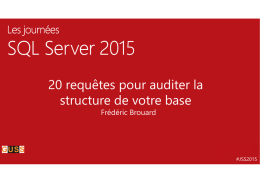 Microsoft PowerPoint - 20 requetes pour auditer