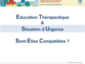 1EDUCATION THERAPEUTIQUE ET