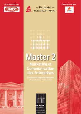 Demandez la brochure - MASTER Marketing et Communication des