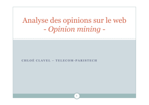 Analyse des opinions sur le web - Opinion mining
