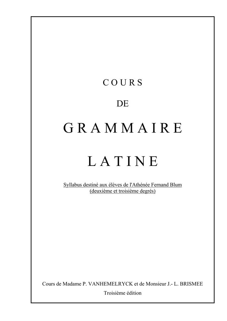 Grammaire Conjugaison