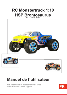 Manuel de l´utilisateur RC Monstertruck 1:10 HSP