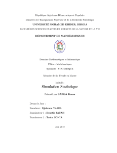 Simulation Statistique - University of Biskra Repository