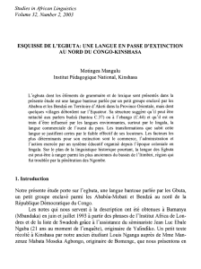 Studies in African Linguistics Volume 32, Number 2, 2003