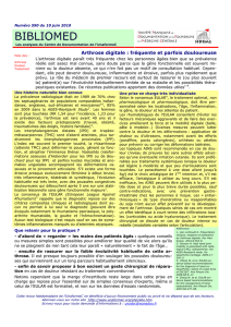 Arthrose digitale