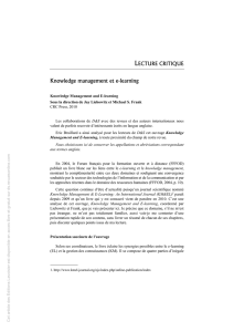 Knowledge management et e-learning