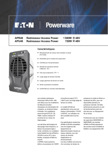 APR48 Redresseur Access Power 1500W 48V APU48 Redresseur