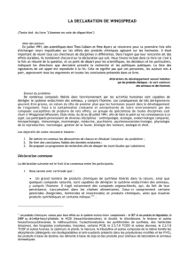 la declaration de wingspread