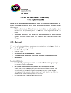 Contrat en communication marketing Juin à septembre