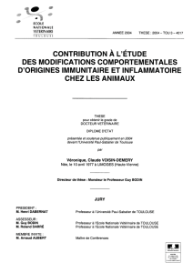 Contribution à l`étude des modifications comportementales