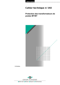 Protection des transformateurs de postes MT/BT