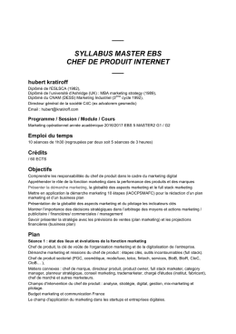 syllabus master ebs chef de produit internet