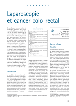 Laparoscopie et cancer colo