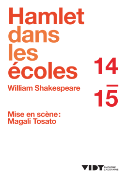 William Shakespeare Mise en scène : Magali Tosato