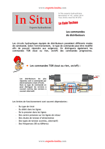 Les commandes de distributeurs - In Situ