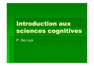 Introduction aux sciences cognitives