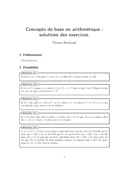 solutions des exercices.