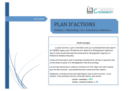 Plan d`actions