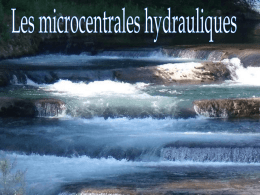 Les microcentrales hydrauliques