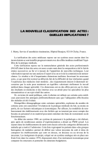 la nouvelle classification des actes : quelles implications
