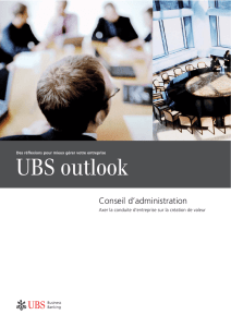 UBS Outlook Conseil d`administration