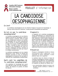 Esophageal candidiasis french