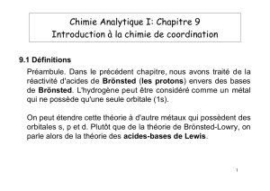 Introduction à la chimie de coordination