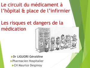 les risques et dangers de la medication