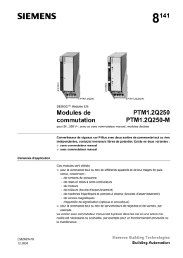 8141 Modules de commutation PTM1.2Q250 PTM1.2Q250-M