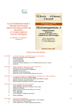 electromagnetisme 3 magnetostatique induction equations