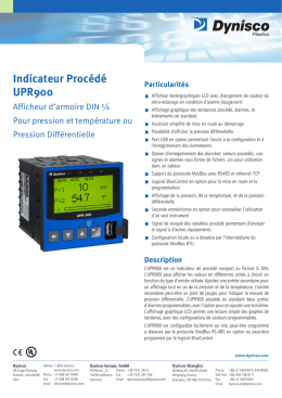 Indicateur Procédé UPR900