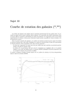 Courbe de rotation des galaxies (*,**)