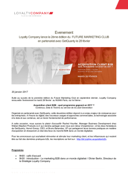 Evenement - Loyalty Company