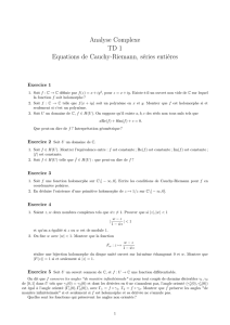 Analyse Complexe TD 1 Equations de Cauchy