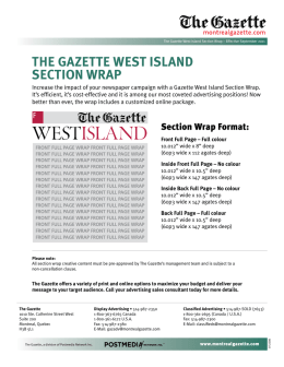 the gazette west island section wrap
