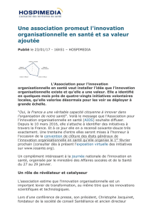 Une association promeut l`innovation organisationnelle en