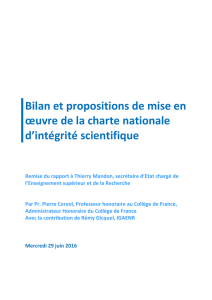 Rapport - Académie des sciences