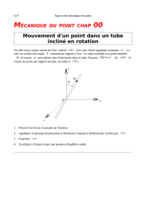 MECPT_07 Point dans tube incline en rotation