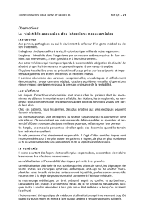 Observations La résistible ascension des infections nosocomiales