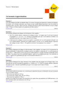 Loi normale et approximations - Exo7