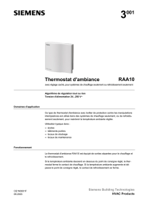 Thermostat d`ambiance RAA10