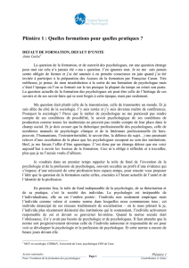 lire cet article - Syndicat National des Psychologues