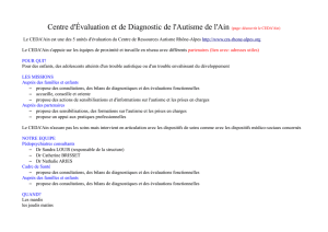 Centre d`Évaluation et de Diagnostic de l`Autisme de l`Ain (page