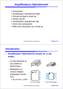 Amplificateurs Opérationnels Introduction